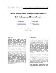 A Model of the Software Development Process Using Both ...