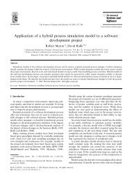 Application of a hybrid process simulation model to a software ...
