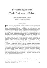 Eco-labelling and the Trade-Environment Debate