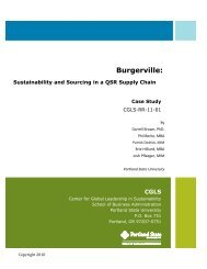 Burgerville Supply Chain Case - School of Business Administration ...