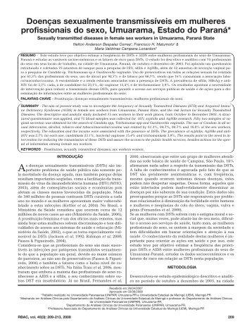 Doenças sexualmente transmissíveis em mulheres ... - SBAC