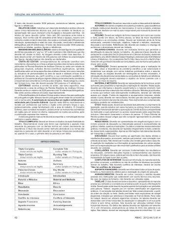 RBAC 1 2012 - Sociedade Brasileira de Análises Clínicas