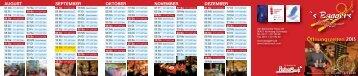 Öffnungszeitenplan 2013 - s'Baggers