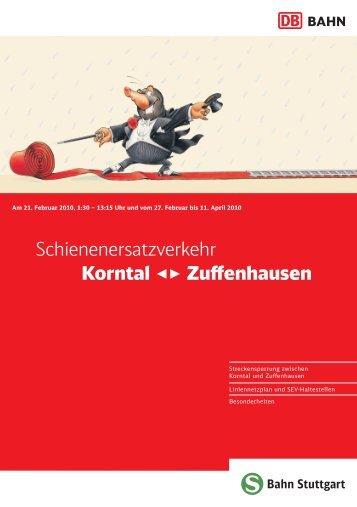 Schienenersatzverkehr Korntal Zuffenhausen - Verband Region ...