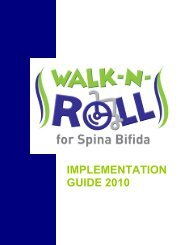 I IMPLEMENTATION GUIDE 2010 - Spina Bifida Association of ...