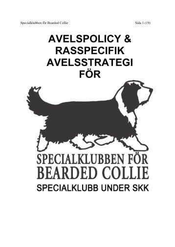 AVELSPOLICY & RASSPECIFIK - Specialklubben för Bearded Collie