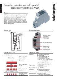 Montážní instrukce a návod k použití - Saia-Support