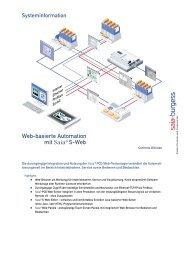 Web-basierte Automation mit Saia® S-Web - Saia-Support
