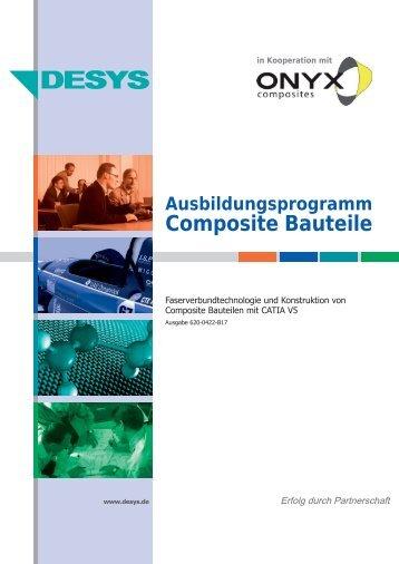 Ausbildungsprogramm Composite Bauteile - desys