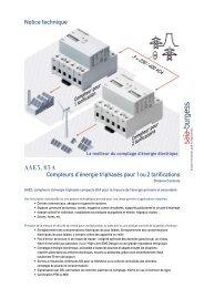 AAE3, 65 A Compteurs d'énergie triphasés pour 1 ou ... - Saia-Support