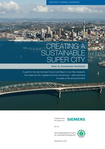 Creating a sustainable super City - Knowledge Auckland