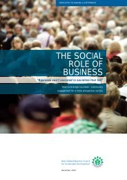 Part 1 – The Social Role of Business - Sustainable Business Council