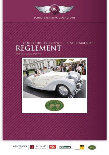 Reglement des ConCouRs d'eleganCe - Schloss Bensberg Classics