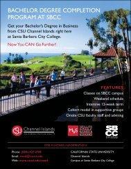 BAChelOr DeGree COmpletION prOGrAm At SBCC - Santa Barbara ...