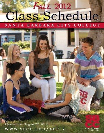 2012 Fall Class Schedule - Santa Barbara City College