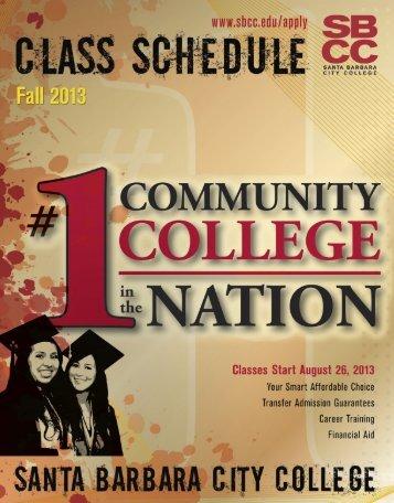 fall 2013 schedule for download - Santa Barbara City College