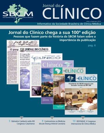 Jornal do Clínico chega a sua 100ª edição - Sociedade Brasileira de ...