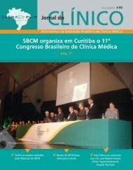 SBCM organiza em Curitiba o 11º Congresso Brasileiro de Clínica ...