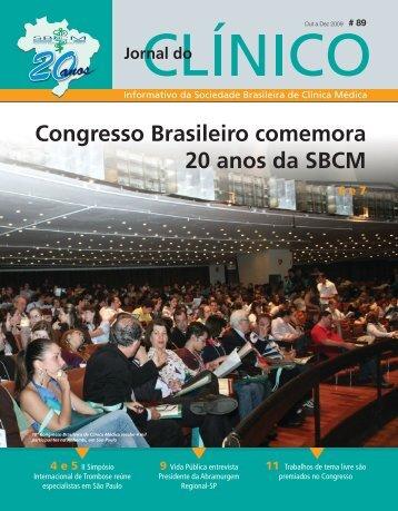 Congresso Brasileiro comemora 20 anos da SBCM - Sociedade ...