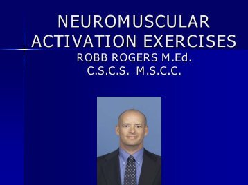 NEUROMUSCULAR ACTIVATION EXERCISES - sbc