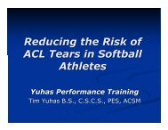 Reducing the Risk of ACL Tears in Softball Athletes - sbc