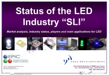 Status of the LED Industry - I-Micronews