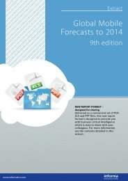 Global Mobile Forecasts to 2014