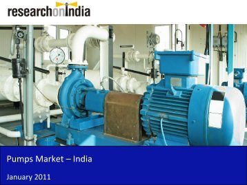 Pumps Market in India 2011 - Sample
