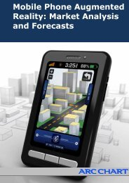 Mobile Phone Augmented Reality: Market Analysis and Forecasts