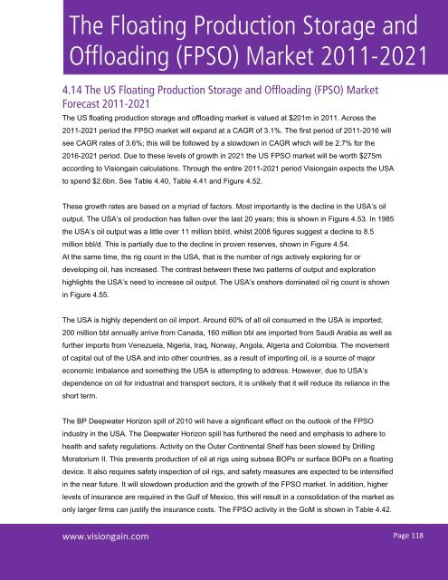 The Floating Production Storage and Offloading (FPSO) Market