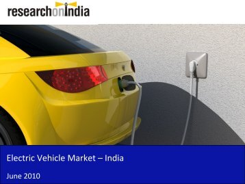 Electric Vehicle Market in India 2010 - Sample