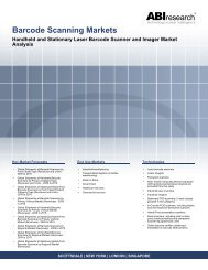 Barcode Scanning Markets Handheld and Stationary Laser Barcode ...