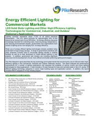Energy Efficient Lighting for Commercial Markets - Navigant Research