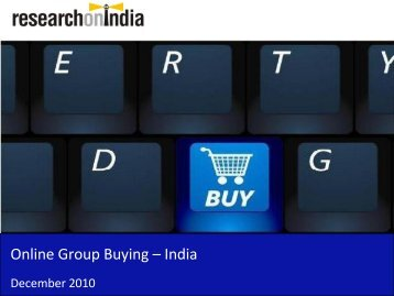 Online Group Buying Market in India 2010 - Sample