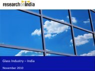 Glass Industry in India 2010 - Sample