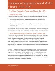 Companion Diagnostics: World Market Outlook 2011-2021