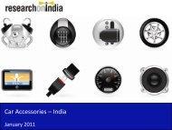 Car Accessories Market in India 2011 - Sample