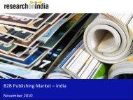 B2B Publishing Market in India 2010 - Sample