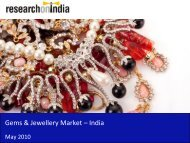 Gems and Jewellery Market in 2010 - Sample