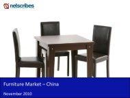 Furniture Market in China 2010 - Sample