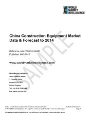 China Construction Equipment Market Data & Forecast to 2014