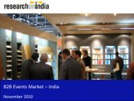 B2B Events Market in India 2010 - Sample