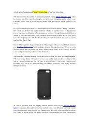 A Guide when Purchasing an iPhone 5 Battery Case at NewNow Online Shop.pdf