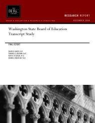 """Washington State Board of Education Transcript Study,"" 2008."
