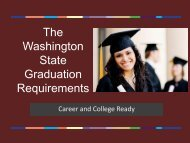 The Washington State Graduation Requirements