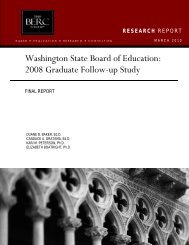2008 Graduate Follow-up Study - Washington State Board of ...