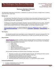 Page 1 Washington State Board of Education Member Vacancy The ...