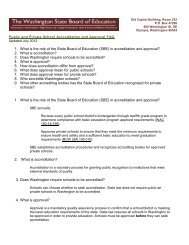 in accreditation and approval? - Washington State Board of Education