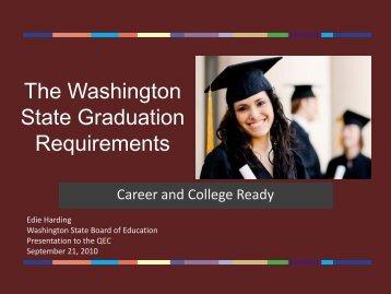 The Washington State Graduation Requirements