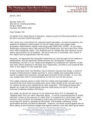 SBE Letter to the Senate Coalition on the McCleary Budget